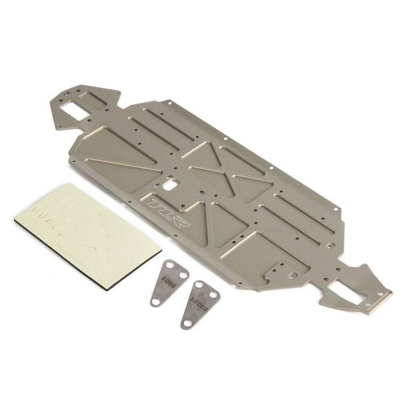 Losi tlr231050 ten scte 3 0 aluminum chassis plate for Chassis aluminium