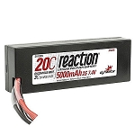 Reaction 7.4V 5000mAh 2S 20C LiPo Battery w/Deans