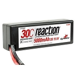 Reaction 11.1V 5000mAh 3S 30C LiPo Hard Case: Deans