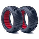 AKA 1/8 Buggy Tires, Crossbrace w/Foam, Super Soft (2)