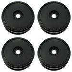 1:8 Buggy Wheels, Borrego 8, Black (4)
