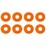 1:8 Buggy Wheel Sticker Disks, Orange