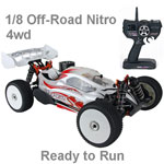 Hyper SS Ready to Run 1/8 Nitro Buggy w/White Body