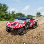 Torment 1/10 2wd SCT Brushed w/Lipo Battery: Red/Silver RTR