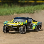 Torment 1/10 2wd SCT Brushed w/Lipo Battery: Yellow/Blue RTR