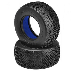 JConcepts 3Ds 1:10 Short Course Tires, Blue (2)
