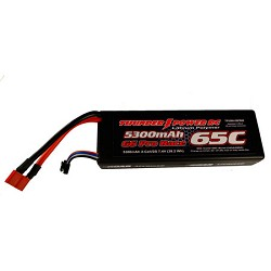 Thunder Power 5300mAh 2S 7.4V 65C Lipo Battery w/Deans Plug