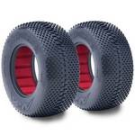 AKA 1/10 Short Course Tires, 2.2x3.0 Grid Iron, Soft (2)