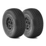 AKA 1/10 SC PreMount Tires, Cityblock w/25mm Backspace, Soft (2)