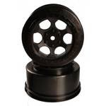 Wheels, Trinidad Associated SC10 4x4 +3mm Offset, Black (2)