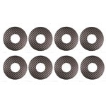 1:8 Buggy Wheel Sticker Disks, Silver Carbon