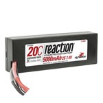 Reaction 7.4V 5000mAh 2S 20C LiPo Hard Case: EC3