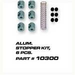 Aluminum stoppers w/Springs, Silver