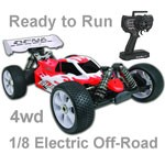 OFNA Buggy8 Electric 1:8 Ready to Rip w/Red Body