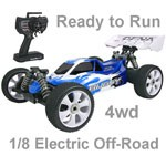 OFNA Buggy8 Electric 1:8 Ready to Rip w/Blue Body