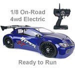 OFNA 1/8 Hyper GTe Electric 4wd Touring Car RTR Blue