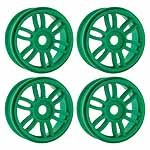 Wheels,17mm Dual Spoke Lime Gr