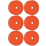 Ofna 1/8 Buggy Wheels, Dish, Orange (6)