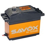 Savox SV-0235MG High Voltage High Speed 5th Scale Servo .13sec/486oz