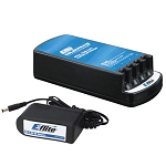 Celectra 4-Port 1-Cell 3.7 Volt 0.3 Amp Li-Po Charger w/AC Adapter