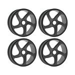 OFNA Gray 5-Spoke 1/8 Buggy Wheels (4): HoBao 87095G