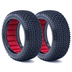 AKA 14002XR 1/8 Buggy Cityblock Tires Long Wear Soft w/Inserts (2)