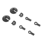 Arrma AR330338 Shock Rod End Set Nero (2)