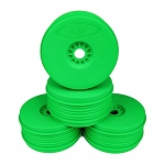 DE Racing Speedline Plus 1/8 Buggy Dish Wheel, Green (4)
