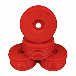 DE Racing Speedline Plus 1/8 Buggy Dish Wheel, Red (4)