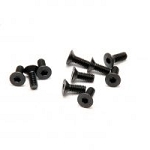 M3x8mm Hex Flat Head Screws (10): HoBao 31308