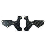Mugen E2154, Graph Front Lower Susp Arm Mount Plate 2pcs (1mm): X8