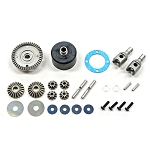 Mugen E2249, H.T. Front/Rear Differential Set 46T