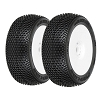 Proline 9039-033 Buggy 1/8 Blockade Tires on White Wheels: X3 (pair)