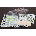 Losi TLR240009, TLR 8ight-T 3.0 & 4.0 Clear Truggy Body