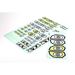 Losi TLR249003, 8IGHT 4.0 Logo Sticker Sheet