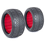 AKA 13123CR Deja Vu 1/10 Rear Buggy Tire (Fits EVO Wheels) Clay w/Inserts