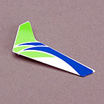 Green Vertical Fin with Decal: mCP X