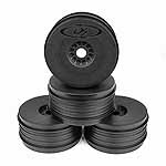 DE Racing Speedline Plus 1/8 Buggy Dish Wheel, Black (4)