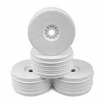 DE Racing Speedline Plus 1/8 Buggy Dish Wheel, White (4)