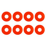 1:8 Buggy Wheel Sticker Disks, Red
