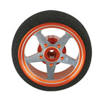 CNC Orange 5-Spoke Spektrum Steering Wheel