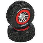 Speedtreads Konekt Short Course Mounted Tires, Traxxas Slash Front