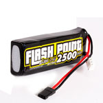 Flash Point 2500 7.4v 2S Flat Lipo Receiver Battery Pack