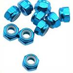 OFNA Aluminum 4mm Lock Nuts, Blue (10) 10983
