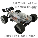 Hyper SSTe Electric 1/8 Off-Road Truggy 80% Race Roller Kit