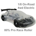 Hyper GTe Electric 1/8 On-Road 80% Race Roller Kit