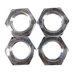 HoBao 84022 Wheel Hex Nuts, Silver, 17mm, 4Pcs