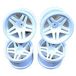 Hyper TT Spoke 1/10 Truggy Wheels (4): OFNA 21246/HoBao 11106