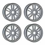 Wheels,17mm Dual Spoke, Gray