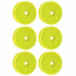 Ofna 1/8 Buggy Wheels, Dish, Yellow (6)